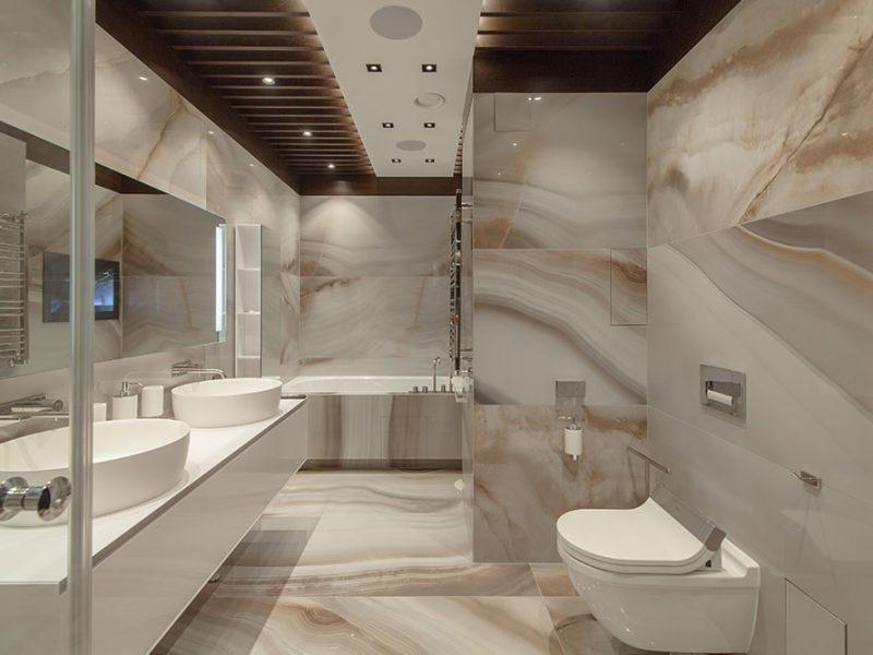 Modern bath Remodel Irvine